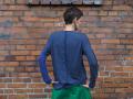 Granatowa bluzka z długim rękawem
