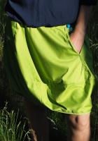 Spódniczka krótka - limonkowa z kieszenią