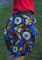 Spódnica we wzory, chabrowa