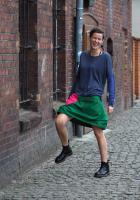 Krótka zielona spódnica