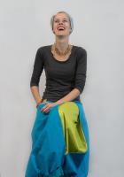 Spódnica BaMaKo turkusowa