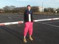 Spodnie typu culotte, różowe