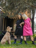 agana-różowa-czarna-sukienka
