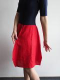 Sukienka krótka, czerwono - granatowa