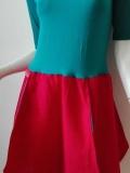 Sukienka krótka, czerwono - zielona