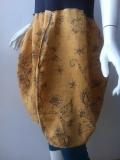 Sukienka krótka miodowo szara
